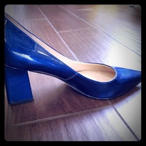 Block blue heels very stylish